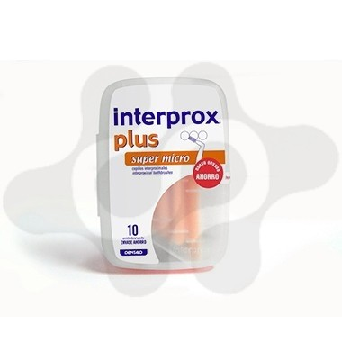 CEPILLO DENTAL INTERPROXIMAL INTERPROX PLUS SUPER MICRO ENVASE AHORRO 10 U