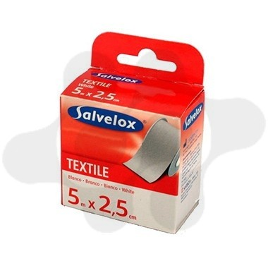 ESPARADRAPO SALVELOX TEXTIL BLANCO 5 X 2,5
