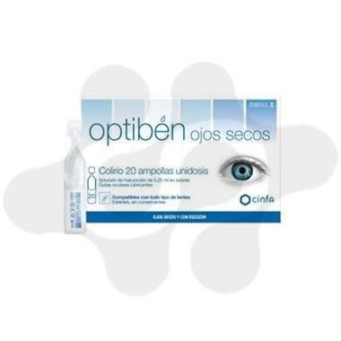 OPTIBEN GOTAS SEQUEDAD OCULAR 0.25 ML 20 AMP