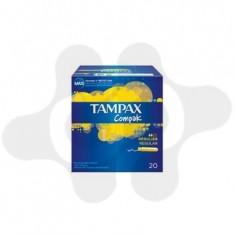 TAMPONES 100%ALGODON TAMPAX COMPAK REGULAR 20 U