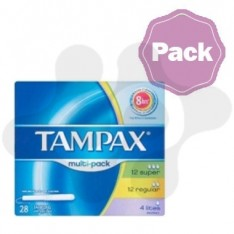 MULTIPACK TAMPONES TAMPAX 28 UNID