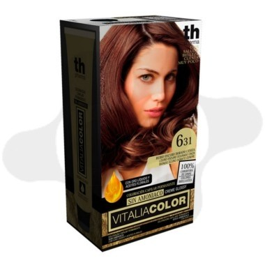 TH PHARMA VITALIA SIN AMONIACO COLORACION CAPILAR PERMANENTE COLOR 6.31 RUBIO OSCURO DORADO CENIZA