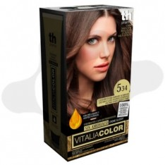 TH PHARMA VITALIA SIN AMONIACO COLORACION CAPILAR PERMANENTE COLOR 5.34 CASTAÑO CLARO DORADO ACOBRADO