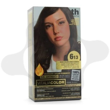 TH PHARMA VITALIA SIN AMONIACO COLORACION CAPILAR PERMANENTE COLOR 6.13 RUBIO OSCURO CENIZA DORADO