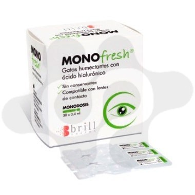 MONOFRESH GOTAS HUMECTANTES MONODOSIS 0.4 ML 30 MONODOSIS