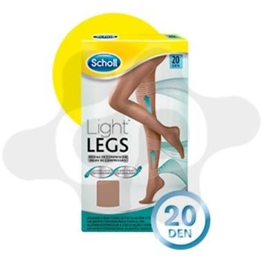 MEDIAS E.T. CINT COMP LIGERA 20 DEN SCHOLL LIGHT LEGS CARNE T- XL