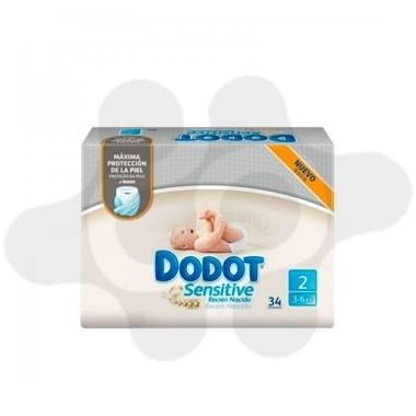 PAÑAL INFANTIL DODOT SENSITIVE RECIEN NACIDO T- 2 3- 6 KG 34U