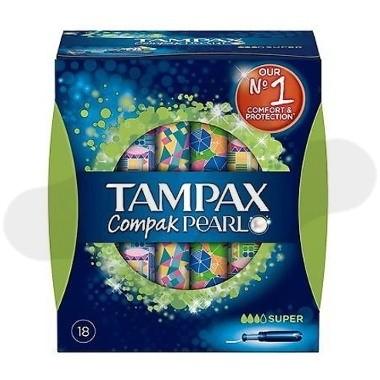 TAMPONES 100%ALGODON TAMPAX COMPAK PEARL SUPER 18 U