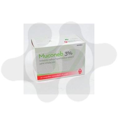 MUCONEB 3% SOLUCION SALINA HIPERTON INHALACION CLORURO DE SODIO 3% 30 AMPOLLAS