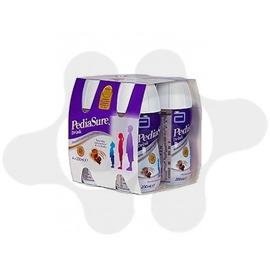 PEDIASURE DRINK PACK 4 BOTELLAS X 200 ML CHOCOLATE