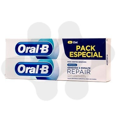 DUPLO ORAL B PACK ESPECIAL 2 X 125 ML ORIGINAL ENCÍAS & ESMALTE REPAIR