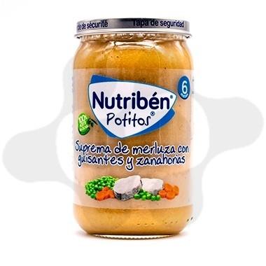 NUTRIBEN SUPREMA DE MERLUZA CON GUISANTES ZANAHORIAS POTITO 235 G