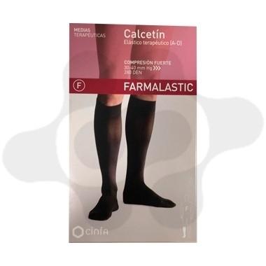 CALCETIN FARMALASTIC NEGRO T- GDE