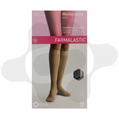 MEDIA CORTA (A-D) COMP NORMAL FARMALASTIC NEGRA T- GDE