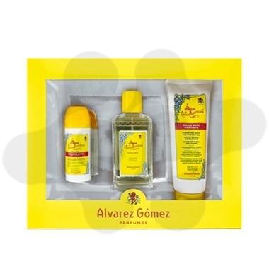 ESTUCHE ALVAREZ GOMEZ 150 ML+DESODORANTE ROLL-ON + GEL