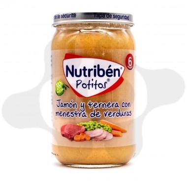 NUTRIBEN JAMON Y TERNERA CON MENESTRA DE VERDURAS POTITO 235 G