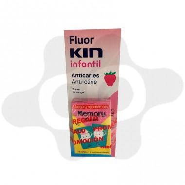 FLUOR KIN INFANTIL ENJUAGUE BUCAL FRESA 500 ML
