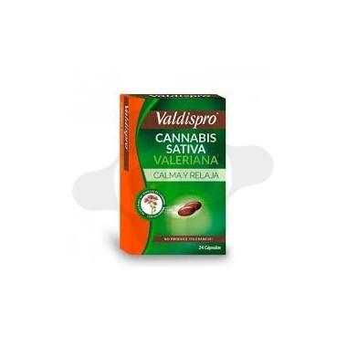 VALDISPRO CANNABIS SATIVA VALERIANA 24 CAPSULAS