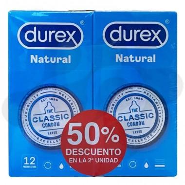 DUREX NATURAL PLUS PRESERVATIVOS 12 PRESERVATIVOS 2 CAJAS