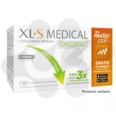 XLS MEDICAL ORIGINAL CAPTAGRASAS NUDGE 180 COMPRIMIDOS