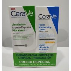 CERAVE PACK LOCION HIDRATANTE ROSTRO SPF25 50G+LIMPIADORA CREMA ESPUMA HIDTATANTE 100ML