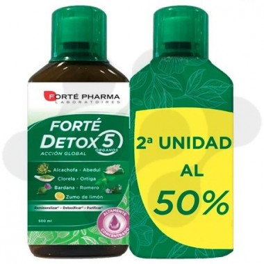 FORTE FARMA DETOX 5 ORGANOS 500 ml PACK DUO